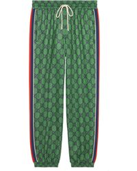 Gucci Pantalón de chándal de punto GG y Web - Verde