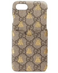 Gucci - Gg Supreme Bees Iphone 7 Case - Lyst
