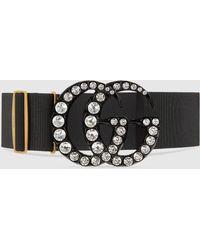 Gucci Gürtel mit GG-Schnalle - Schwarz