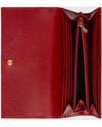 Gucci Continental Brieftasche aus Leder - Rot