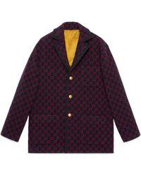 Gucci GG Wool Jacket - Blue