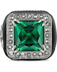 Gucci - Ring With Stone And Crystals - Lyst