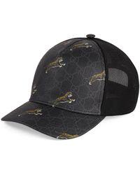 Gucci Tiger Printed Baseball Cap - Black