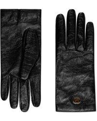 Gucci - Gants en cuir avec GG - Lyst