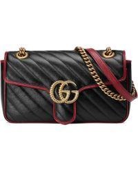 Gucci GG Marmont Shoulder Bag - Black