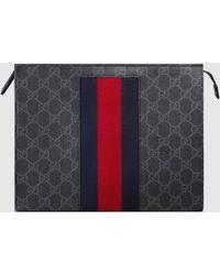 Gucci 'GG Supreme Web' Kosmetiktasche - Schwarz