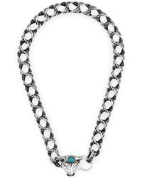 Gucci - Anger Forest Bull's Head Necklace In Silver - Lyst