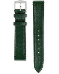 Gucci Bracelet de montre Grip en cuir, 35 mm - Vert