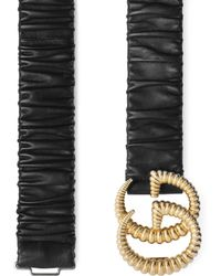 Gucci Belt With Torchon Double G Buckle - Black
