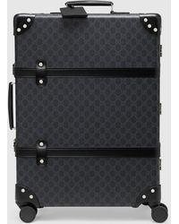 Gucci Mittelgroßer Globe Trotter Koffer mit GG - Schwarz