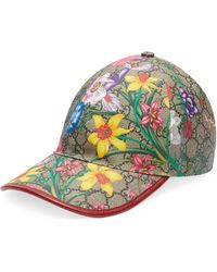 Gucci GG Flora Baseball Hat - Natural