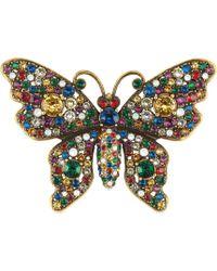 Gucci - Spilla a forma di farfalla con cristalli - Lyst