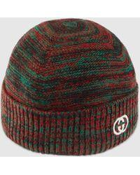 Gucci Mütze aus Wolle mit GG - Grün