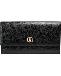 Gucci Portafoglio Continental GG Marmont - Nero