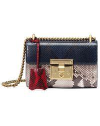 Gucci - Padlock Python Shoulder Bag - Lyst