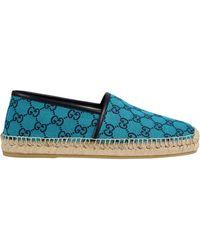 Gucci Espadrilles gg multicolor - Bleu