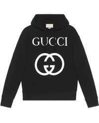 Gucci - Kapuzenpullover mit GG - Lyst