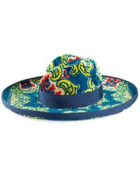 Gucci - Velvet Hat With Floral Brocade Print - Lyst