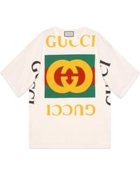 Gucci Oversize T-shirt With Logo - White