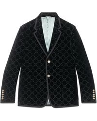 Gucci GG Velvet Jacket - Black