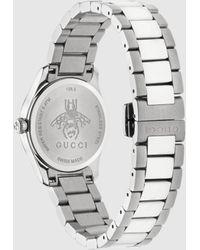 Gucci 【公式】 (グッチ)〔g-タイムレス〕ウォッチ(27 Mm)スチールundefined - メタリック