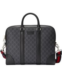 Gucci GG Black Briefcase