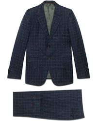 Gucci - New Marseille Bees Wool Check Suit - Lyst