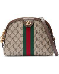 Gucci Sac à épaule ophidia à motif gg - Neutre