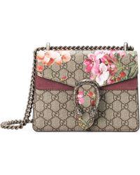 Gucci - Mini-Schultertasche Dionysus mit Blooms Print - Lyst