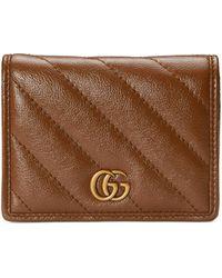 Gucci GG Marmont Brieftasche - Braun