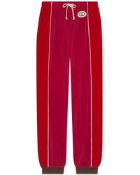 Gucci - Pantalone harem in ciniglia - Lyst
