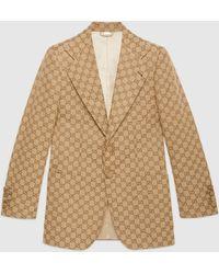Gucci - Jacke aus GG Canvas - Lyst