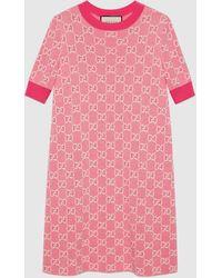 Gucci グッチGGコットンウールピケ ショートドレス - ピンク