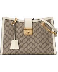 Gucci Padlock GG Medium Shoulder Bag - Natural