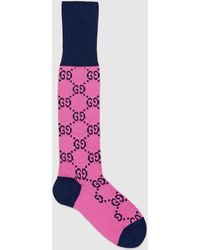 Gucci GG Multicolor Socken aus Baumwollmischung - Pink