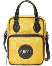 Gucci Off the grid schultertasche - Gelb