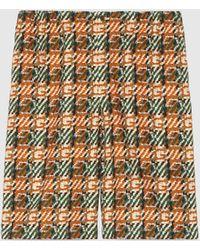 Gucci Shorts aus Baumwolle mit G Print mit Flechteffekt - Orange