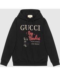 """Gucci グッチ """"mad Cookies"""" プリント スウェットシャツ - ブラック"""