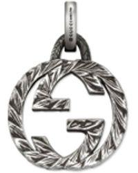 Gucci - GG Charm-Anhänger in Silber - Lyst