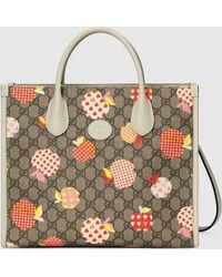 Gucci Kleiner Shopper mit Apfel-Print - Natur
