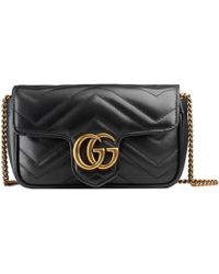 meistverkauft Großhandelspreis Vielzahl von Designs und Farben GG Marmont Super-Mini-Tasche aus Matelassé-Leder