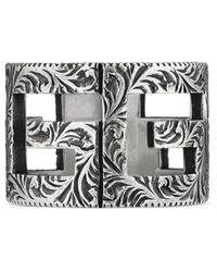 Gucci Square G Ring aus Silber - Mettallic