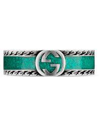 Gucci Anillo con GG - Verde
