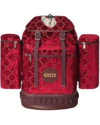 1b10a755bc Gucci - Zaino in velluto GG misura grande - Lyst