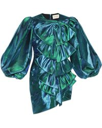 Gucci - Robe en lurex avec nœuds - Lyst