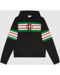 Gucci 【公式】 (グッチ)インターロッキングg プリント スウェットシャツブラックブラック
