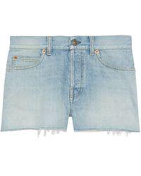 Gucci Doraemon X Eco Denim Shorts - Blue