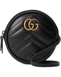 Gucci Minibolso GG Marmont - Negro