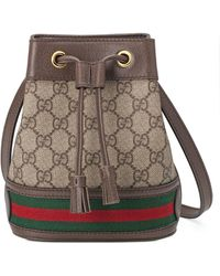 Gucci Ophidia Mini GG Bucket Bag - Natural
