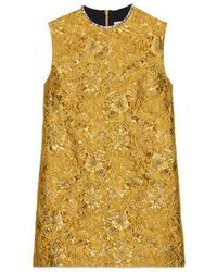 Gucci - Floral Brocade Tunic Top - Lyst